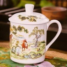 会议礼品杯子,办公会议茶杯