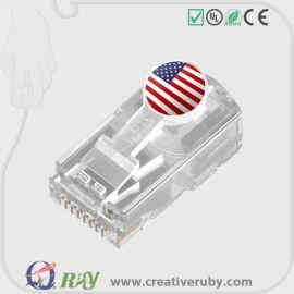 秦通 全球专利 创意水晶头 适用于五类六类七类网线