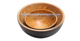 竹制球形沙拉碗
