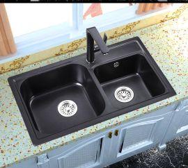 杰美JM208厨房石英石水槽双槽