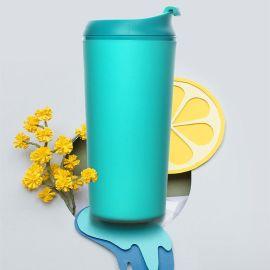 創意不倒杯便攜咖啡杯ins隨手杯學生塑料運動水杯330ml
