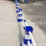 蓝白塑料隔离墩  红白围栏水马 路障分流桶 道路防撞分道体