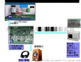 三菱PLC连接触摸屏控制播放MP3音频,三菱PLC与触摸屏放MP3语音解决方案