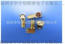 SMA同轴连接器镀金加长螺丝圈带针带孔牙长11.5 体长19.7*13.25HYC01-SMAW1970-1325