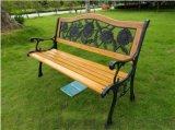 室外广场公园椅子实木条椅铸铝防腐靠背长椅