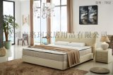 寝具直销 卧室真皮双人床 LUOCKOO品牌皮床 性价比高的欧式实木大床