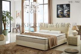寢具直銷 臥室真皮雙人牀 LUOCKOO品牌皮牀 性價比高的歐式實木大牀