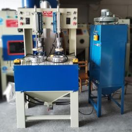 义乌喷砂机厂家, 不锈钢水壶内胆喷砂处理打砂机