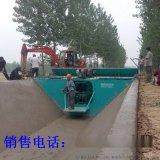 排灌農渠現澆成型機 液壓自走式排水溝成型機