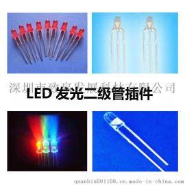 致贏LED發光二極管直插3MM綠發綠300-500MM