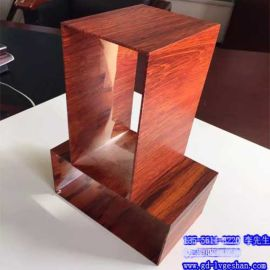 海南木纹铝通 120x120铝方管 大口径铝通定制
