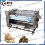 不锈钢芒果奇异果清洗去杂设备 瓜果毛刷清洗去皮机器