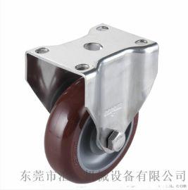 广东4寸不锈钢聚氨酯脚轮 中型4寸不锈钢脚轮