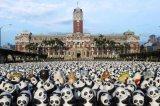 卡通熊貓藝術展仿真大型熊貓中國文化主題展覽道具租賃