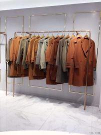 上海品牌服装尾货工厂直销哈祥喜折扣女装剪标货源
