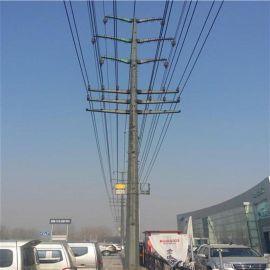 华兴 优惠的电力钢杆价格供应甘肃临夏10KV电力钢管杆及钢杆基础