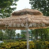 稻草傘、沙灘稻草傘定製、稻草頂篷戶外傘訂做工廠