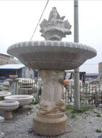 动物喷水池 喷水石雕 流水石雕 天然石料工艺品 原创雕塑