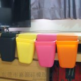 厨房硅胶收纳桶 浴室硅胶吸盘收纳盒