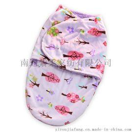 紫柔婴儿复合襁褓 双层印花抱毯 保暖睡袋 婴儿用品 多色可选