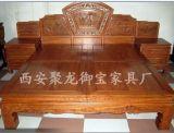 西安仿古罗汉床,非洲黄花梨罗汉床,实木罗汉床