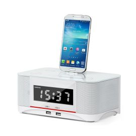蓝牙音箱安卓智能手机充电底座音响闹钟收音机