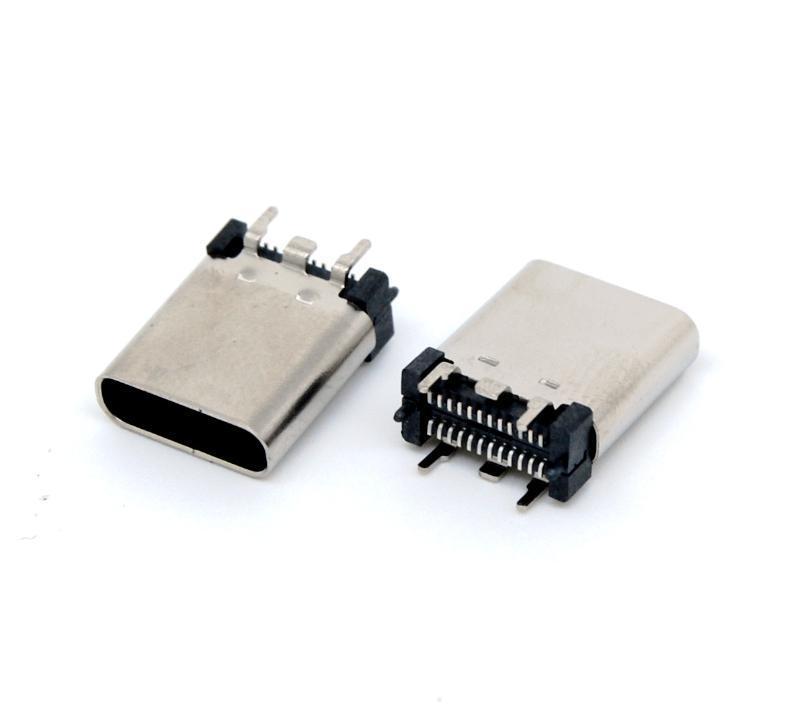 金达瑞USB type c直立式SMT贴板短体9.3母座USB TYPE-C直插母头