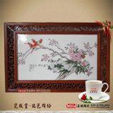 定做景德鎮中國風名家手繪瓷板畫,徐悲鴻瓷板畫