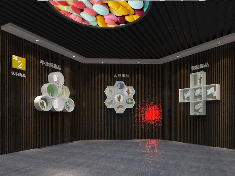 禁毒展館設計, 禁毒展廳效果圖,禁毒展館解決方案