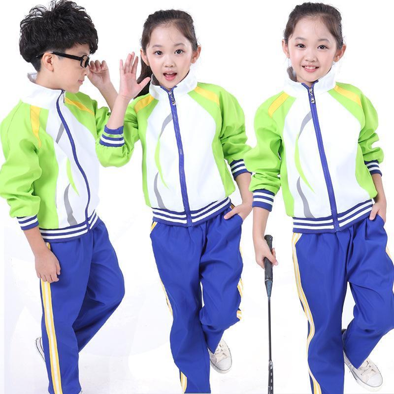 厂家供应新款小学生校服春秋冬装套装中学生校服幼儿园运动服装