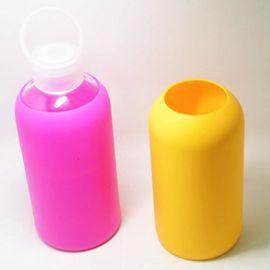 东莞源康硅胶供应500毫升随身水瓶硅胶玻璃瓶硅胶套