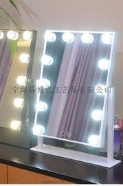 帶燈化妝鏡、帶燈試衣鏡、木質底座化妝鏡、帶燈梳妝鏡、臺式便攜化妝鏡