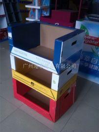 山姆店/沃尔玛等超市用纸制可堆叠箱/展示盒/陈列架