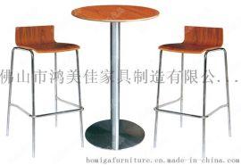 曲木吧椅,弯木吧椅,广东鸿美佳厂家批发供应餐厅吧椅