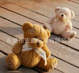 玩具 定做 泰迪熊 蝴蝶领结熊 定制精美高品质戴蝴蝶结熊