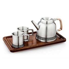 泰國錫器 回紋茶具雙杯商務收藏家居