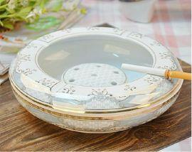 陶瓷烟灰缸批发 厂家订做加字 精美礼品烟灰缸