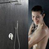 绮美斯卫浴暗装304不锈钢圆形花洒雨淋式大喷头淋浴套装