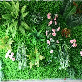 仿真植物墙,办公室店面户外室内装饰绿化,人工草