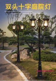 供应欧式4米户外庭院灯 led双头小区景观庭院灯