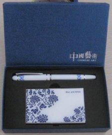 名片夹/笔中国艺术盒套装