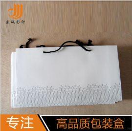 厂家供应创意手提袋环保纸袋化妆品包装袋白卡纸购物袋定制手提袋