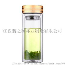 高硼硅双层玻璃杯茶杯车载杯商务杯泡茶杯定制002