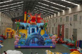 春节户外充气城堡倍受孩子欢迎