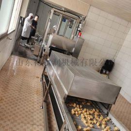 杭州鱼豆腐油炸线,全自动油炸机,电加热油炸生产线