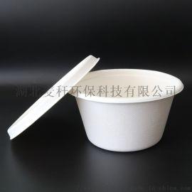 环保可降解一次性餐具,1000ML带盖打包碗