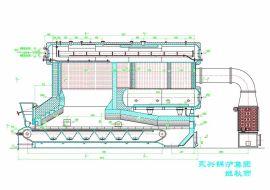 SZL双锅筒膜式壁链条蒸汽锅炉(生物质成型燃料)