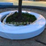 直销椭圆形树池 玻璃钢 大型**座椅花池白色玻璃钢广场休闲坐凳