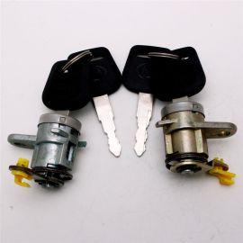 厂家研发锌合金锁芯铜压塑料钥匙工程车卡车门锁安全锁芯