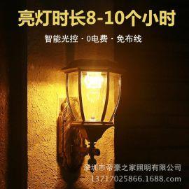 太阳能壁灯阳能灯户外壁灯别墅家门灯景观花园灯院外墙壁灯